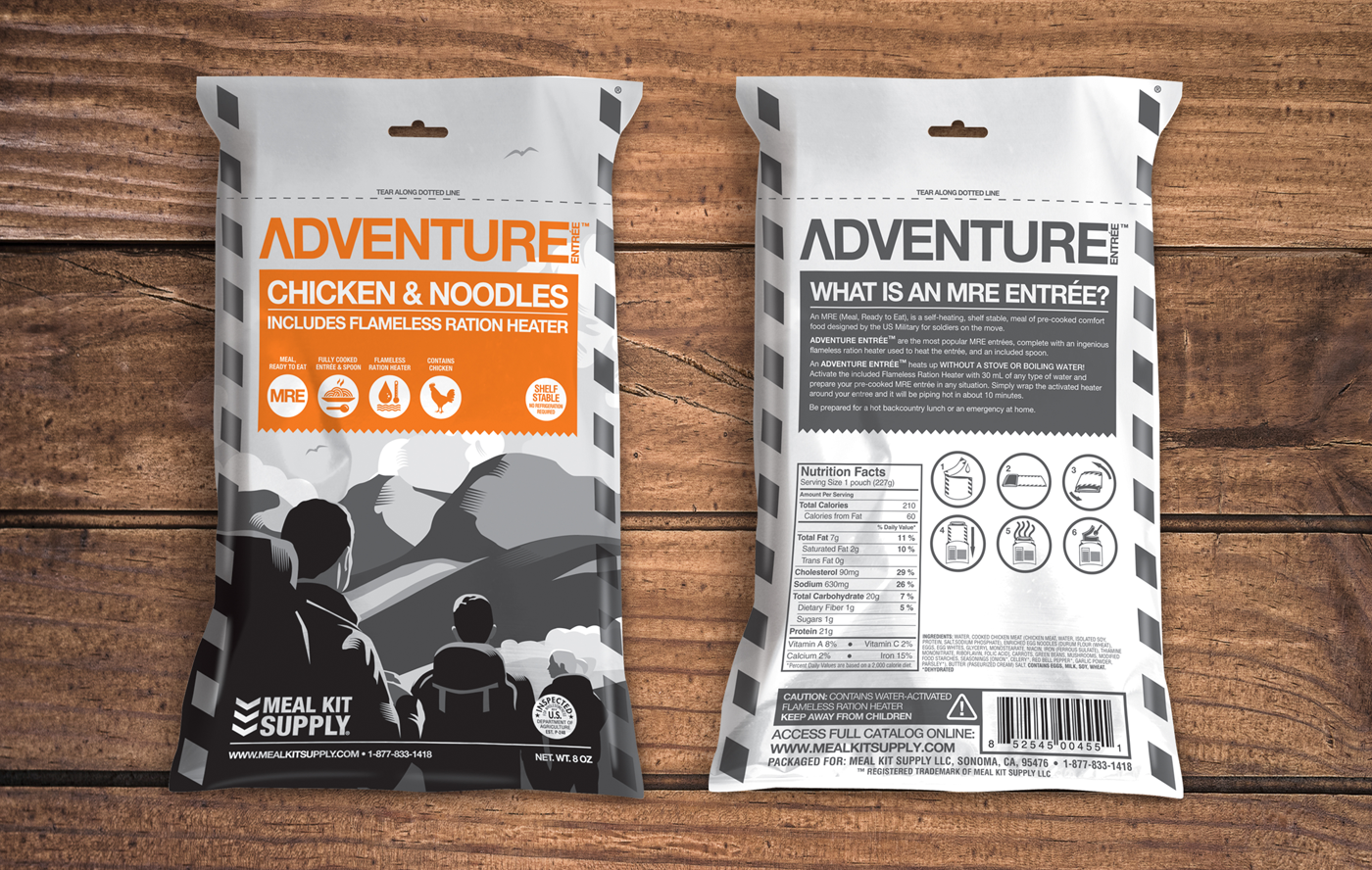 Meal Kit Supply Adventure Kit Chicken and Noodles